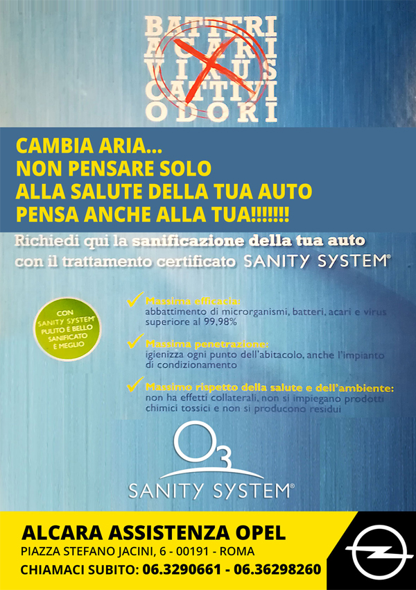certificato sanity system