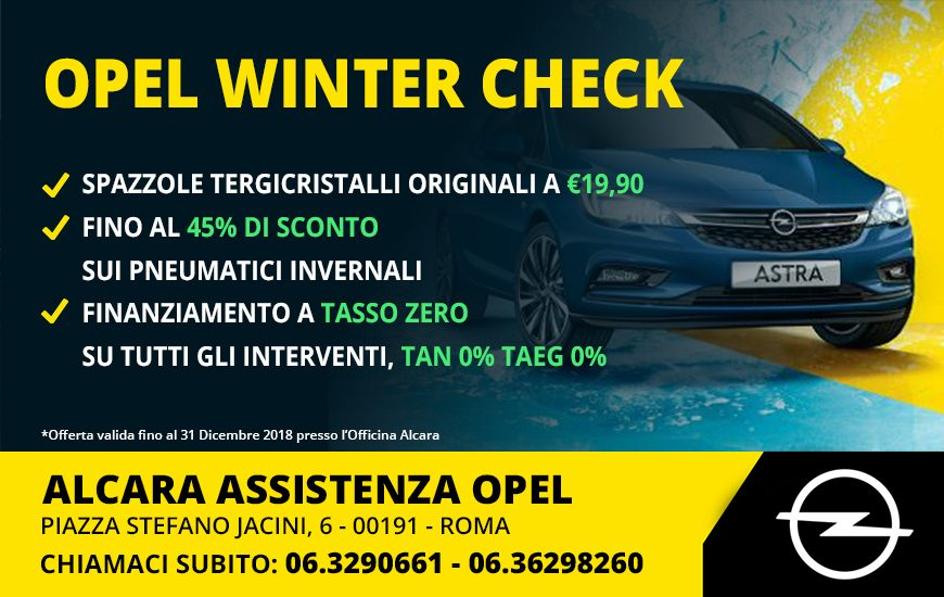 OPEL WINTER CHECKUP